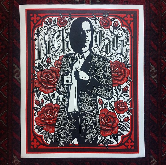 Image of 'Nick Cave' Original Limited Edition Woodblock Print