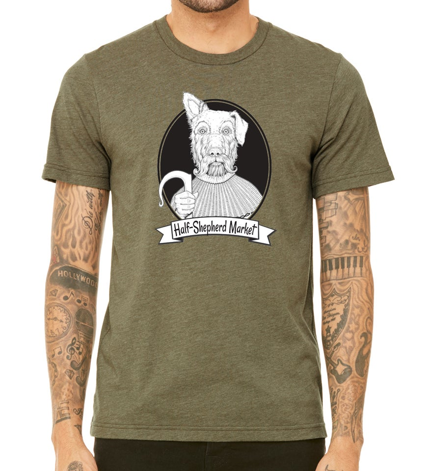 Image of HalfShep Tee - Heather Olive