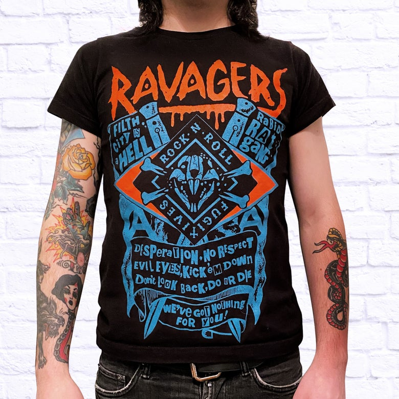 Image of RAVAGERS RABID RAT GANG TEE