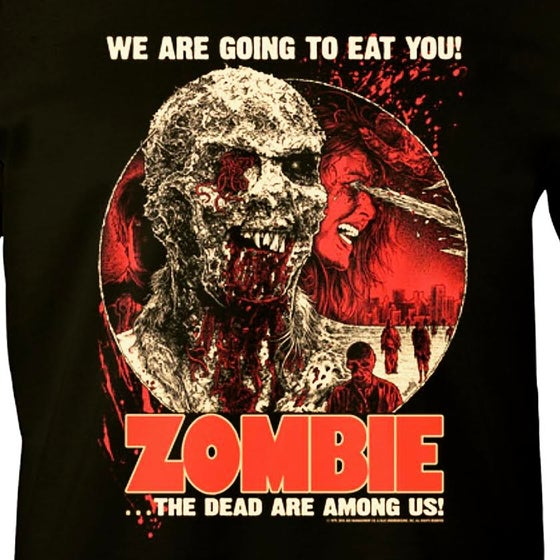 Image of Fulci Zombie Shirt (Front and Back Print)