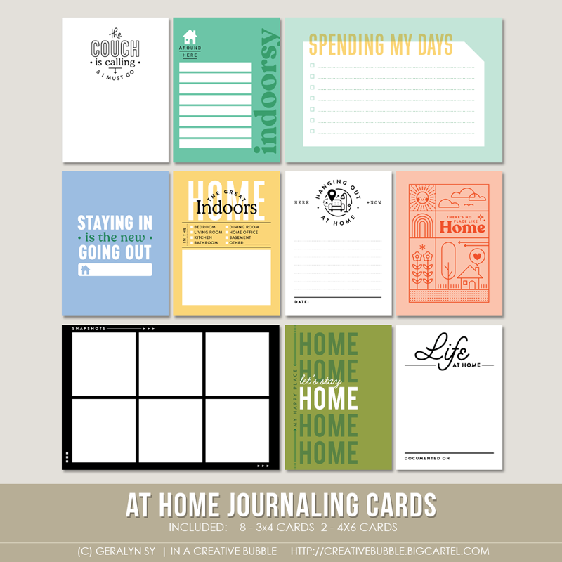 Image of At Home Journaling Cards (Digital)