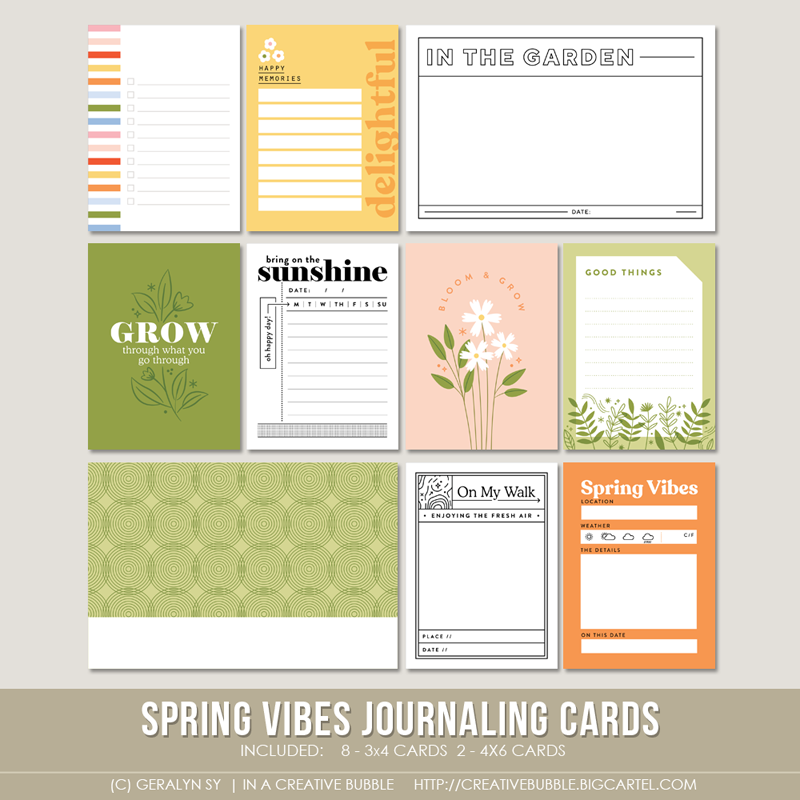 Image of Spring Vibes Journaling Cards (Digital)