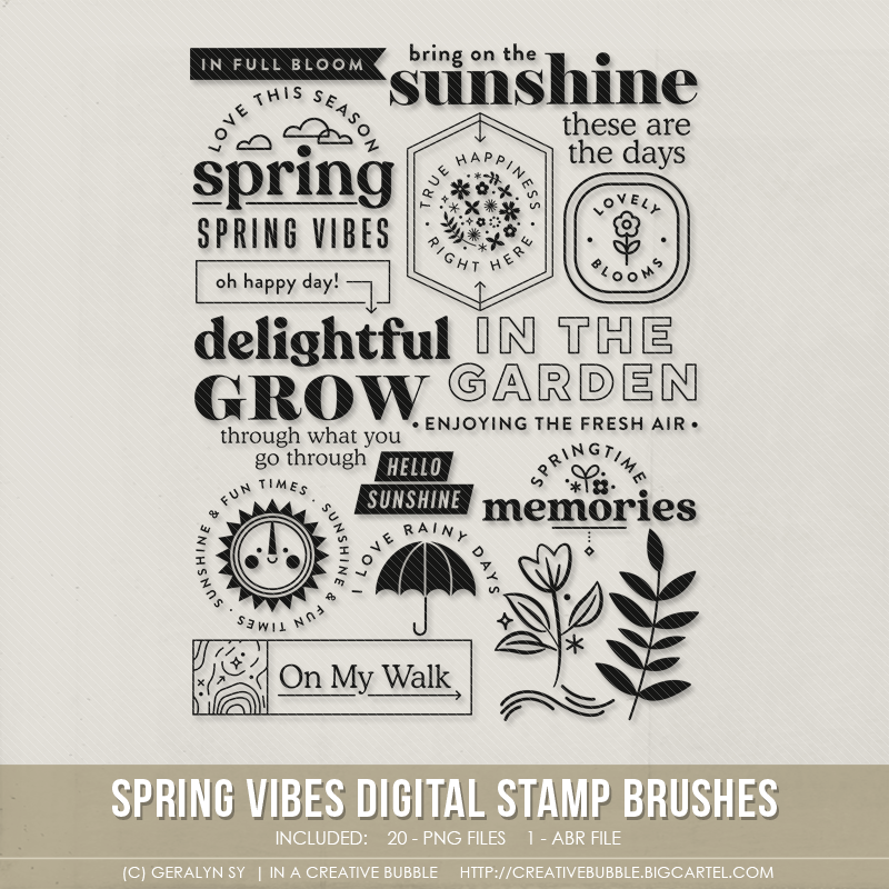 Image of Spring Vibes Stamp Brushes (Digital)