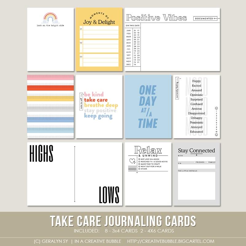 Image of Take Care Journaling Cards (Digital)