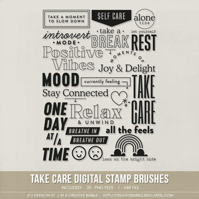 Image of Take Care Stamp Brushes (Digital)
