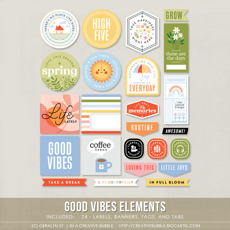 Image of Good Vibes Elements (Digital)