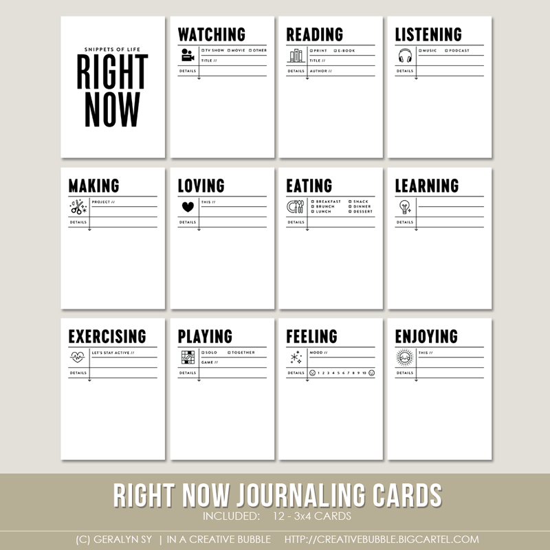 Image of Right Now Journaling Cards (Digital)