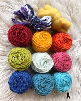 Fibre Packs for Creative Projects. These Packs include some Thick Yarn and Roving.
