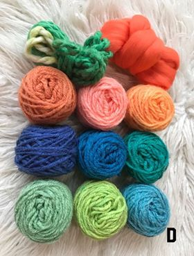Image of Fibre Packs for Creative Projects. These Packs include some Thick Yarn and Roving.