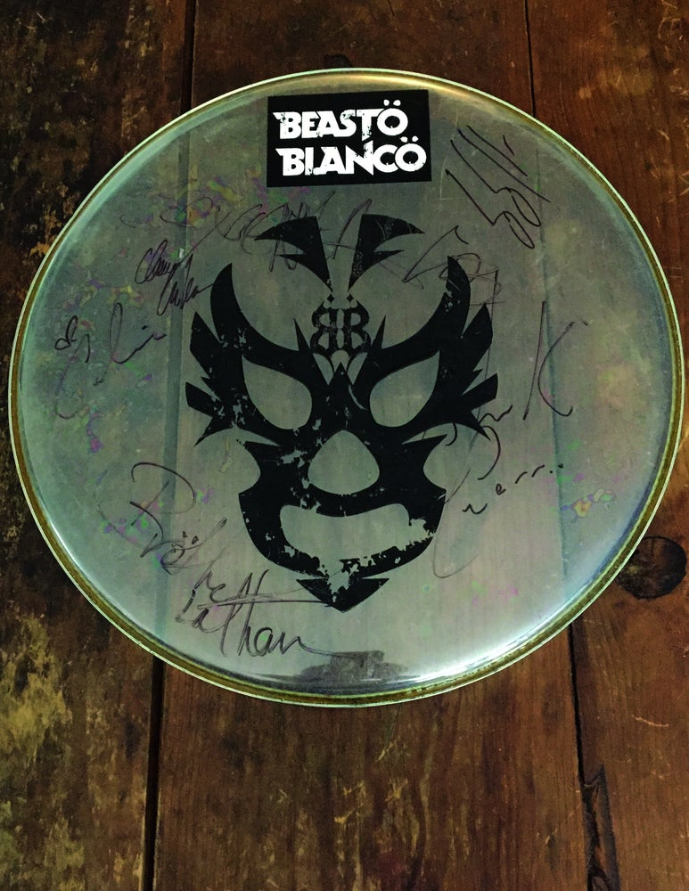Image of OFFICAL - BEASTO BLANCO - 16 INCH USED DRUMHEAD