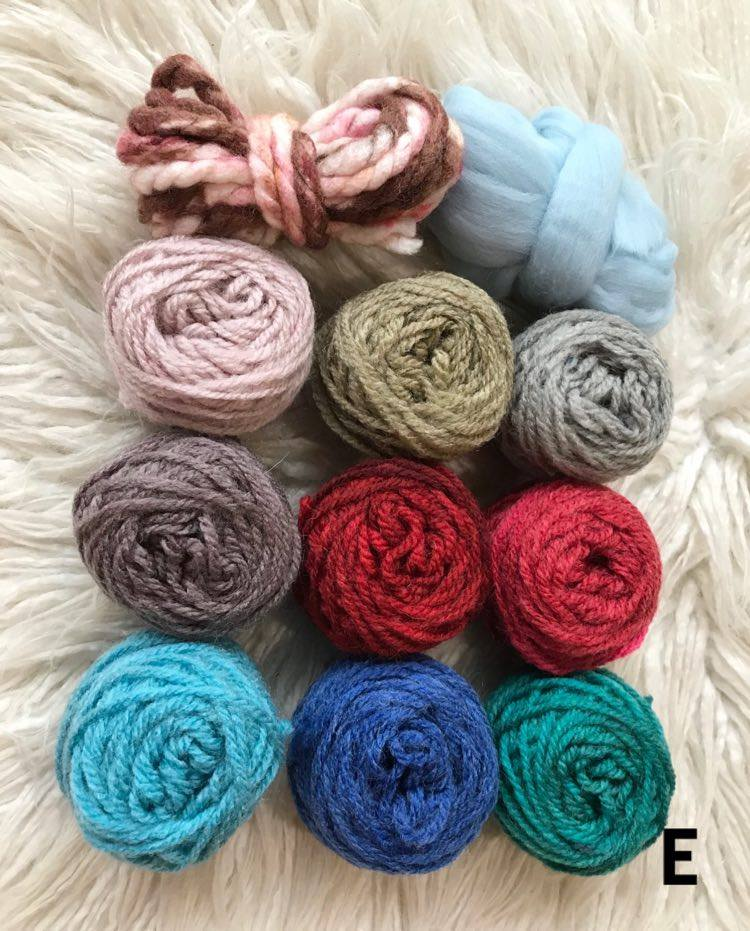 Fibre Packs for Creative Projects. These Packs include some Thick Yarn and Roving 2