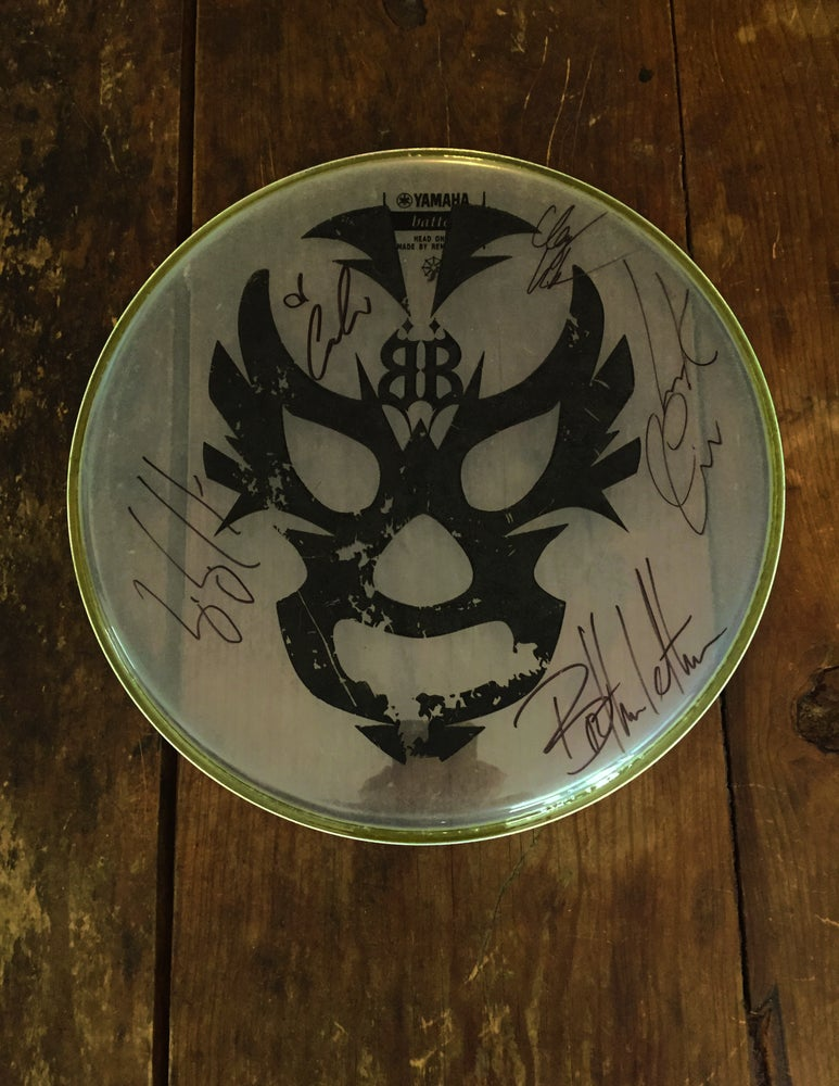 Image of OFFICAL - BEASTO BLANCO - 12 INCH USED DRUMHEAD