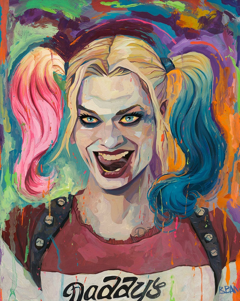 Image of Harley Quinn Original Painting