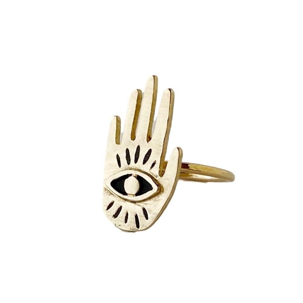 Image of Hand Eye Ring