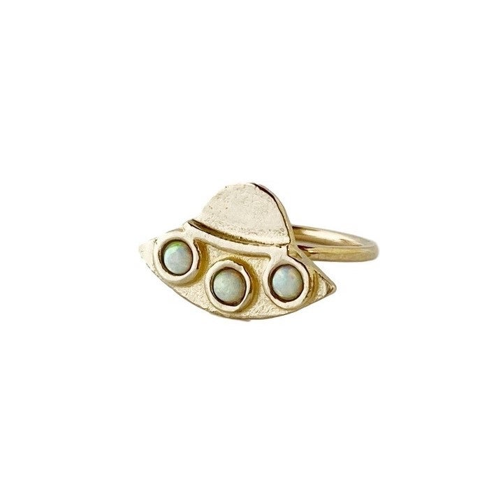Image of UFO Ring with Opal