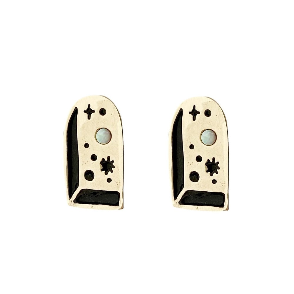 Image of Big Bang Earrings with Opal