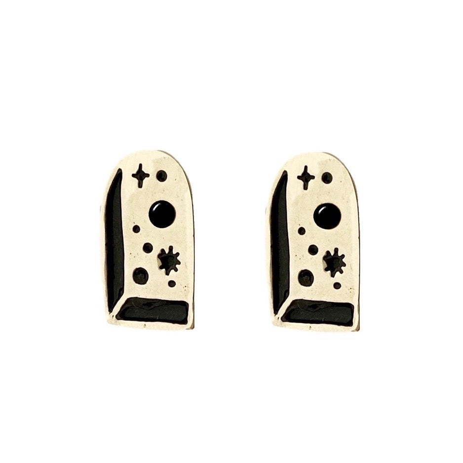 Image of Big Bang Earrings with Black Onyx