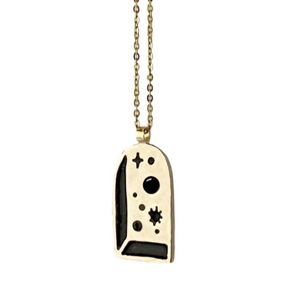 Image of Big Bang Necklace with Black Onyx