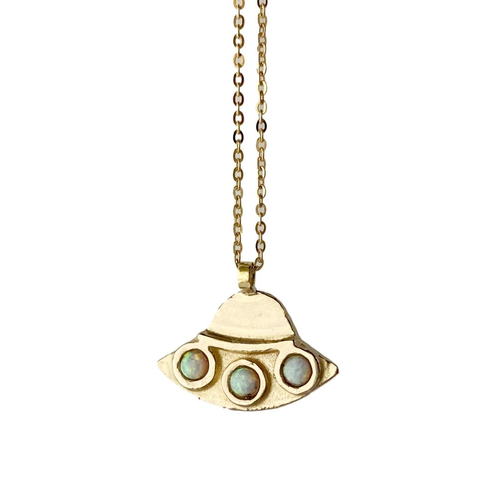 Image of UFO Necklace with Opal