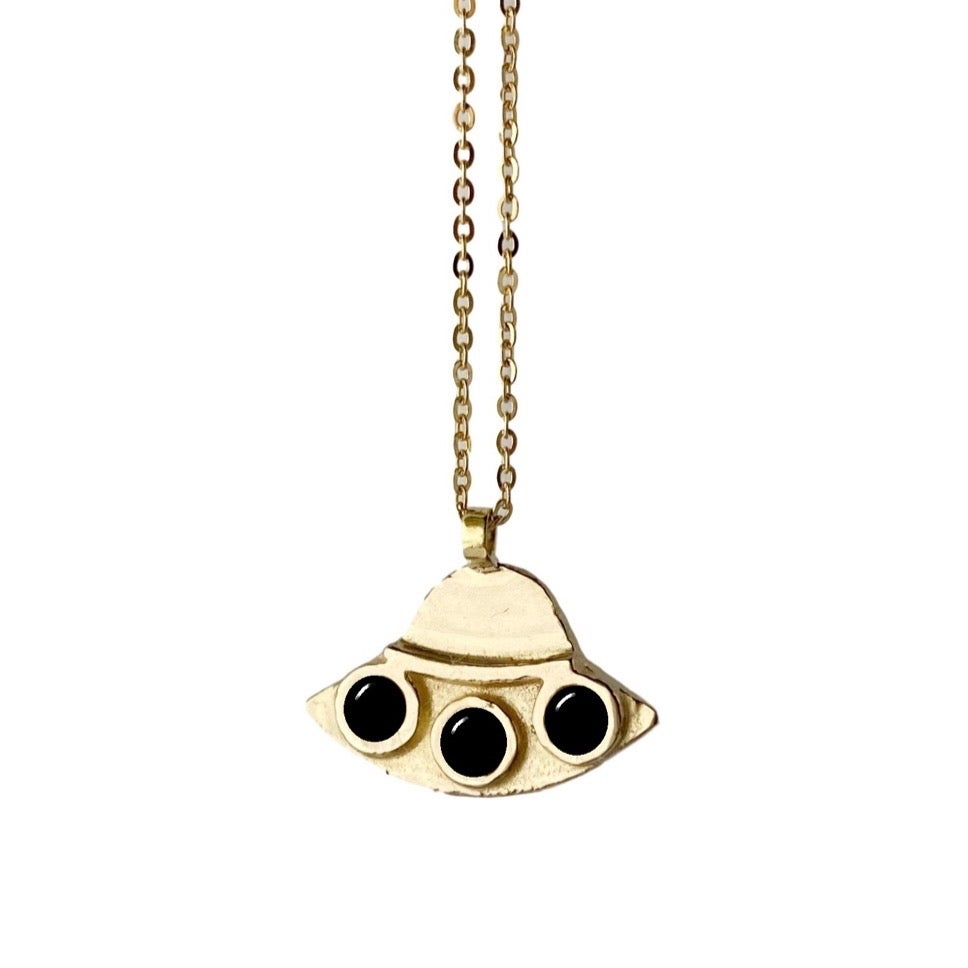 Image of UFO Necklace with Black Onyx