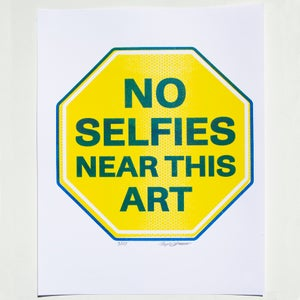 Image of No Selfies Near This Art