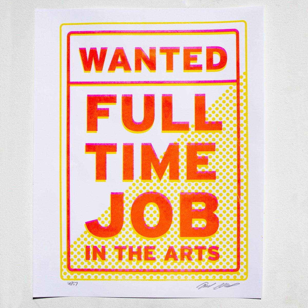 Image of Wanted: Full Time Job in the Arts
