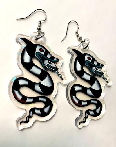 Image of Beetlejuice Sandworm Earrings