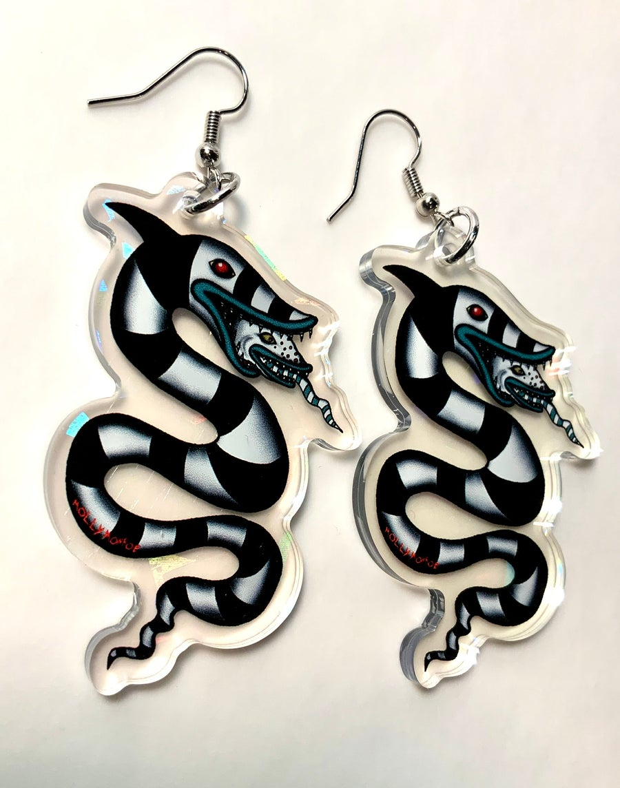Image of Beetlejuice Sandworm Earrings