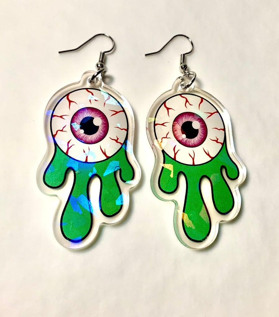 Image of Eyeball Slime Earrings