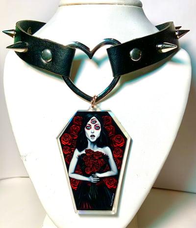 Image of Helena Coffin Heart Ring Choker