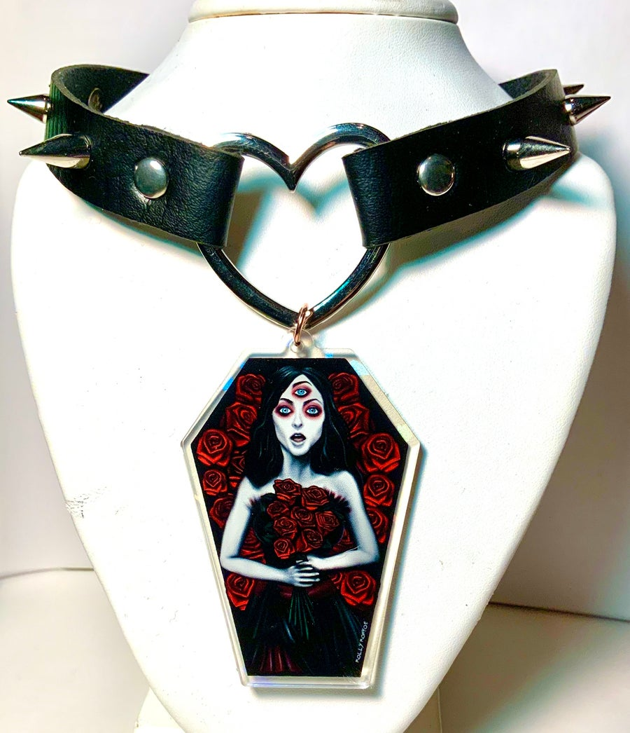 Image of Helena Coffin Heart Ring Choker