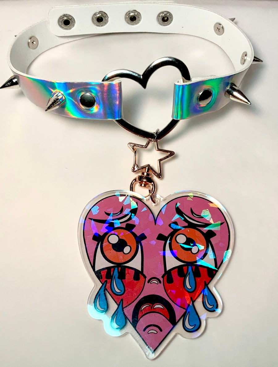 Image of Crybaby Heart Ring Choker