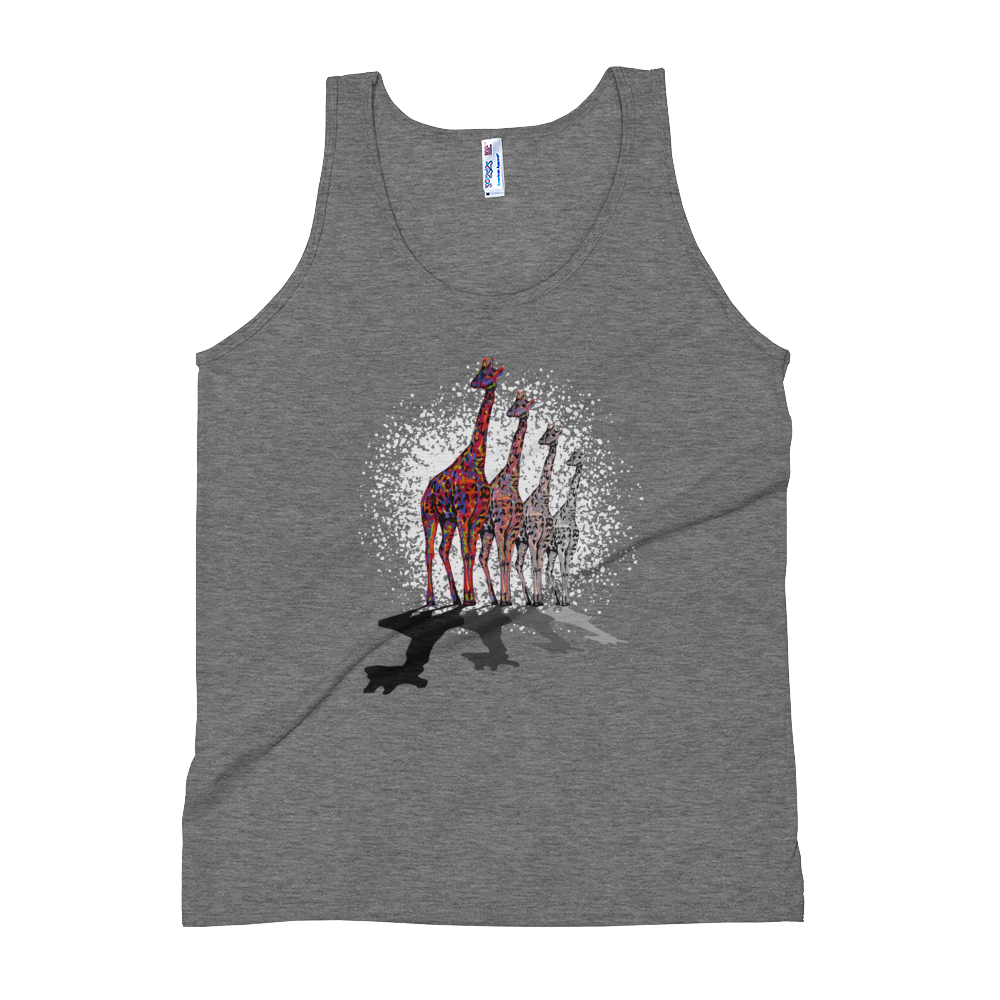 """Image of """"Remember, I'm Here"""" - American Apparel Unisex Tri-Blend Tank Top - Athletic Grey"""