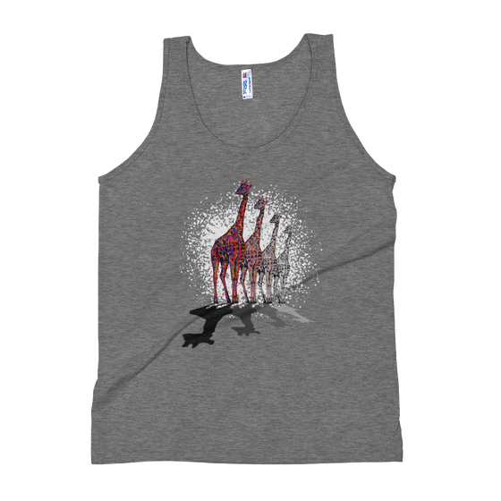 "Image of ""Remember, I'm Here"" - American Apparel Unisex Tri-Blend Tank Top - Athletic Grey"