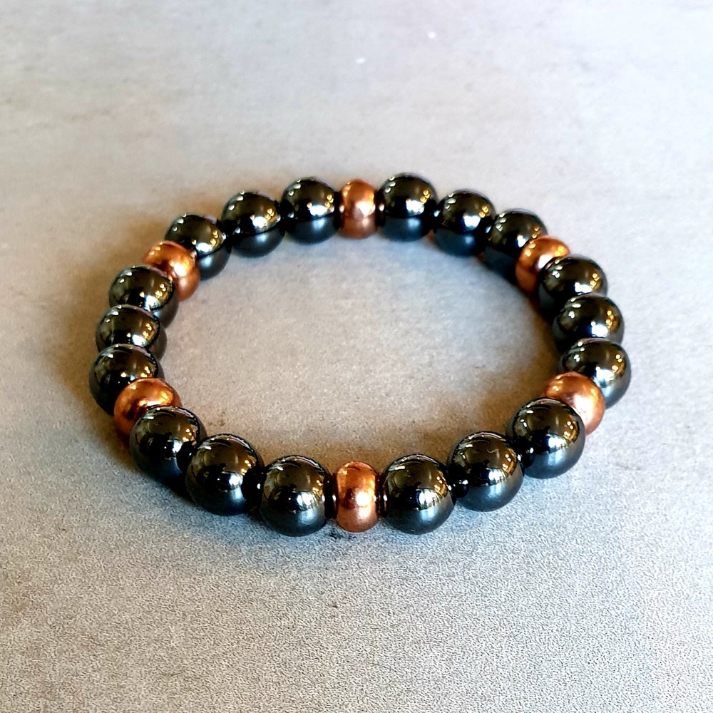 Image of HEMATITE & COPPER PROTECTION BRACELET - 8mm and 10mm bead sizes