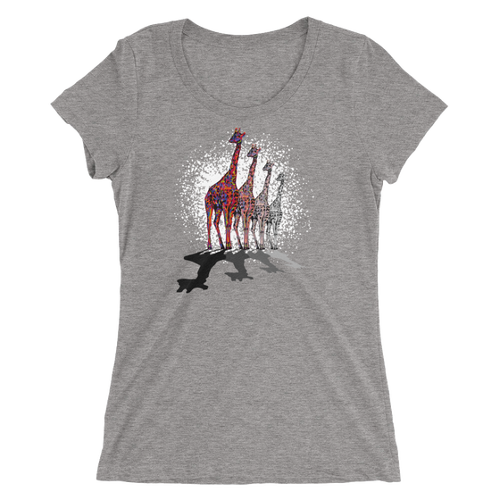 "Image of ""Remember, I'm Here"" - Bella + Canvas Women's Tri-Blend Tee - Grey"
