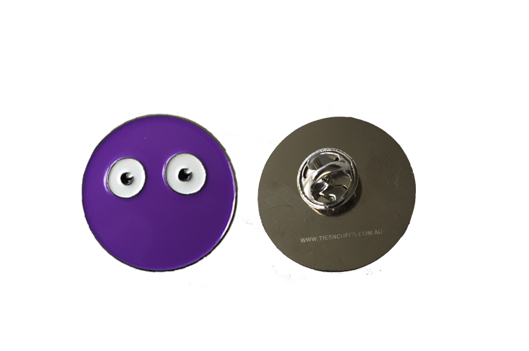 Image of Eyeball Design Enamel Pin