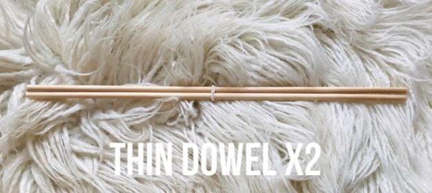 Dowel for hanging your Weavings