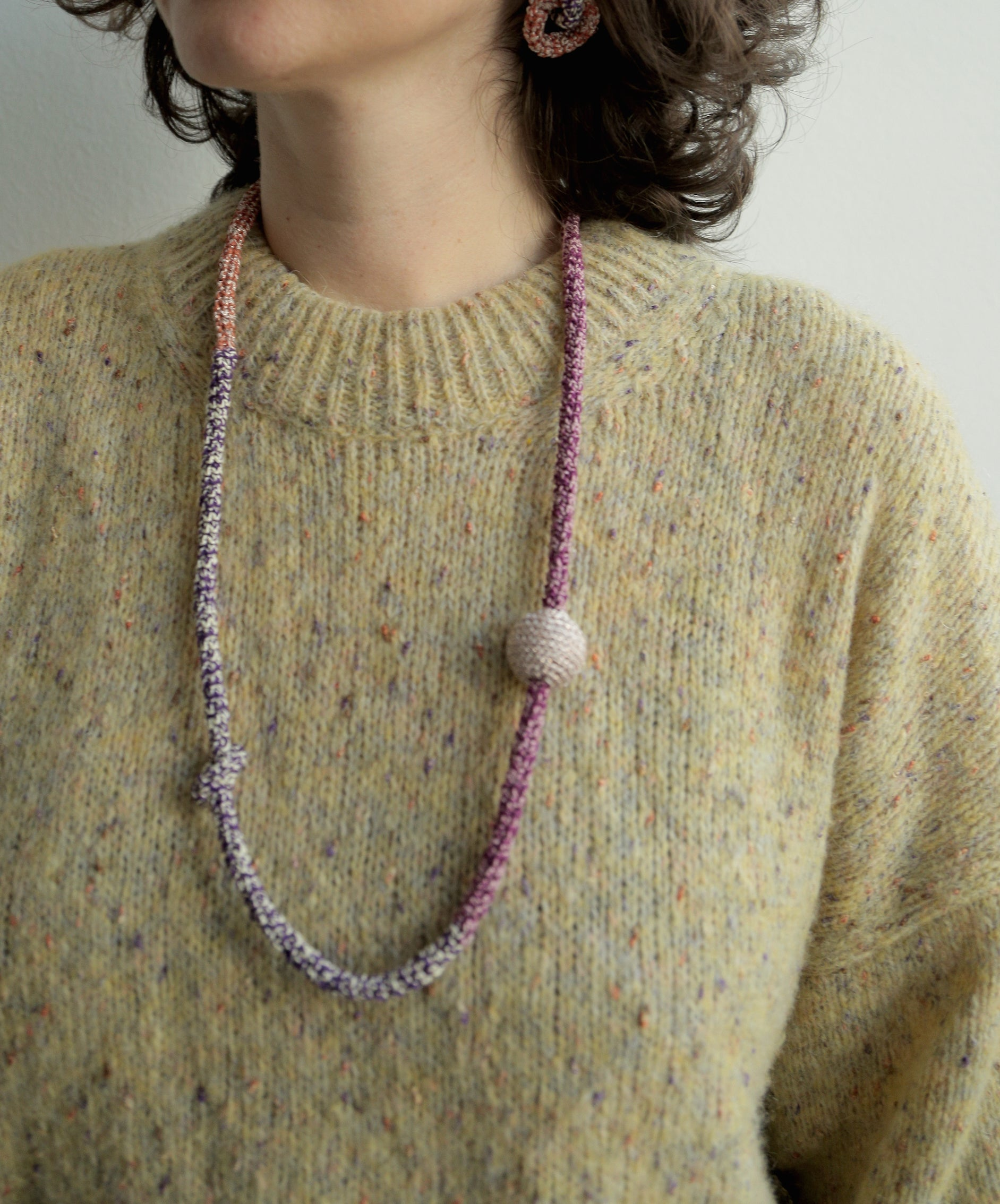 Image of Yellow and Purple Snake necklace