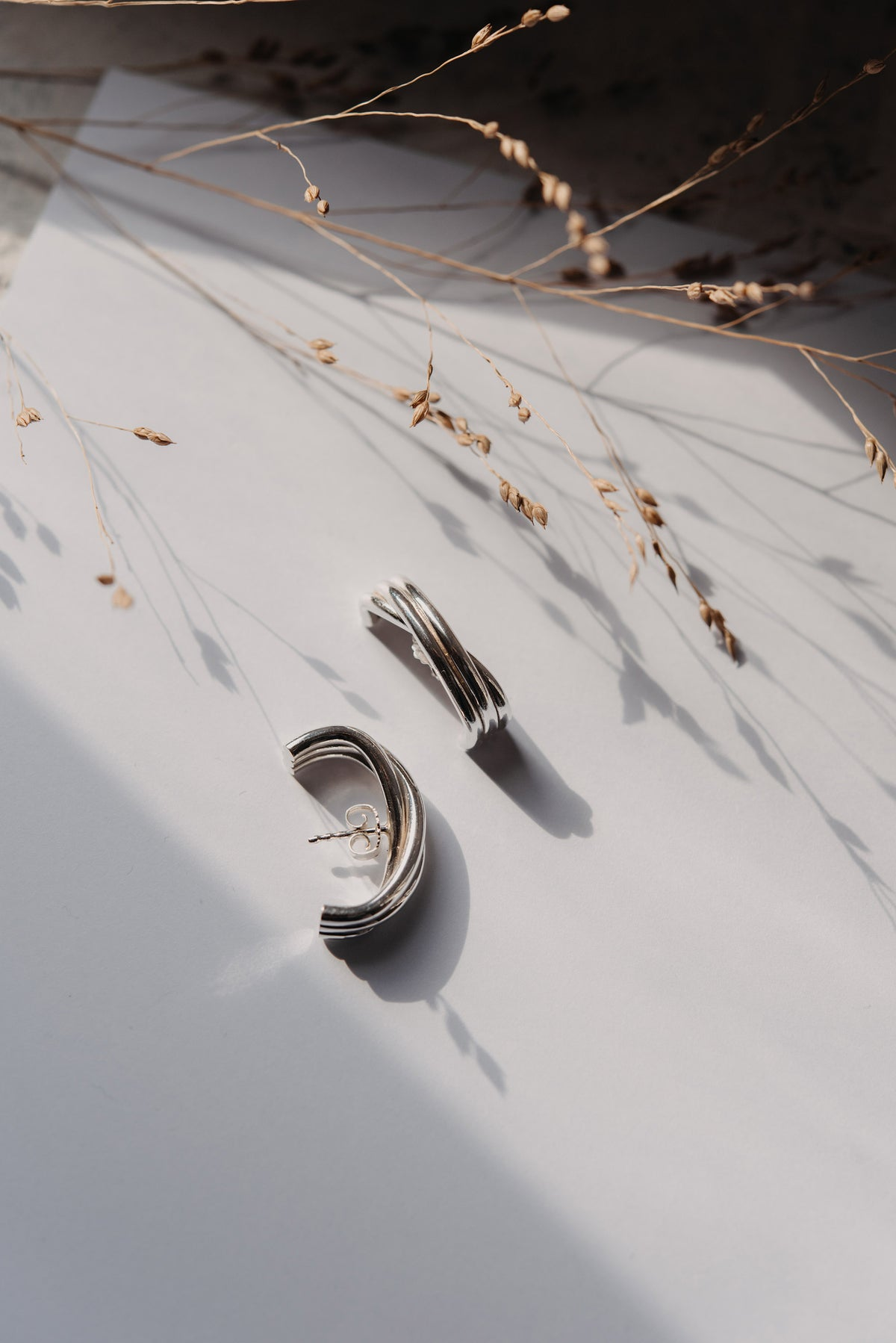 Image of silver earring