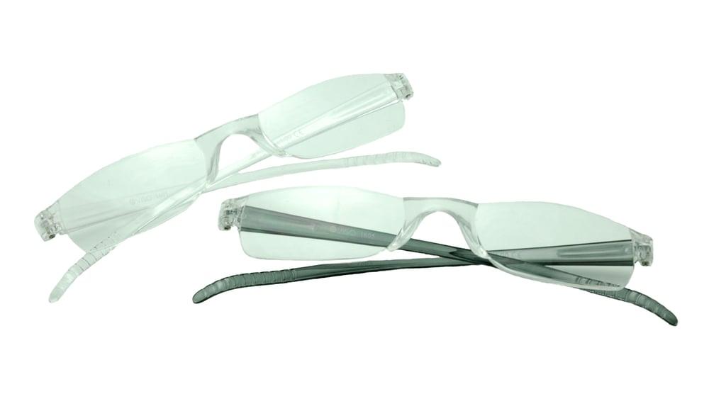 Image of Visa Reading Glasses (#111605) Crystal & Charcoal, 2-pack