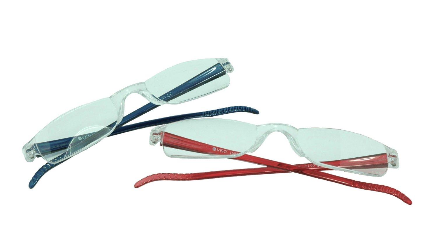 Image of Visa Reading Glasses (#111605) Red & Blue, 2-pack