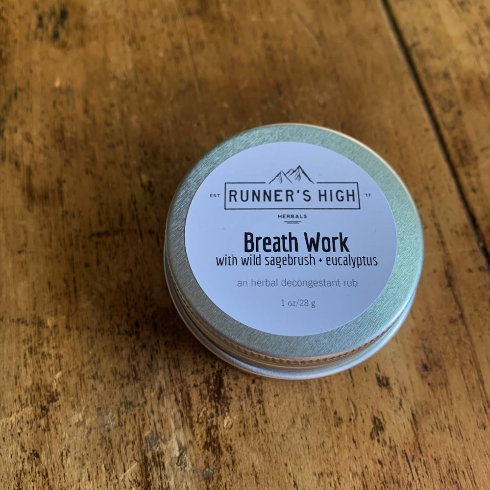 Image of Breath Work - an herbal decongestant chest rub