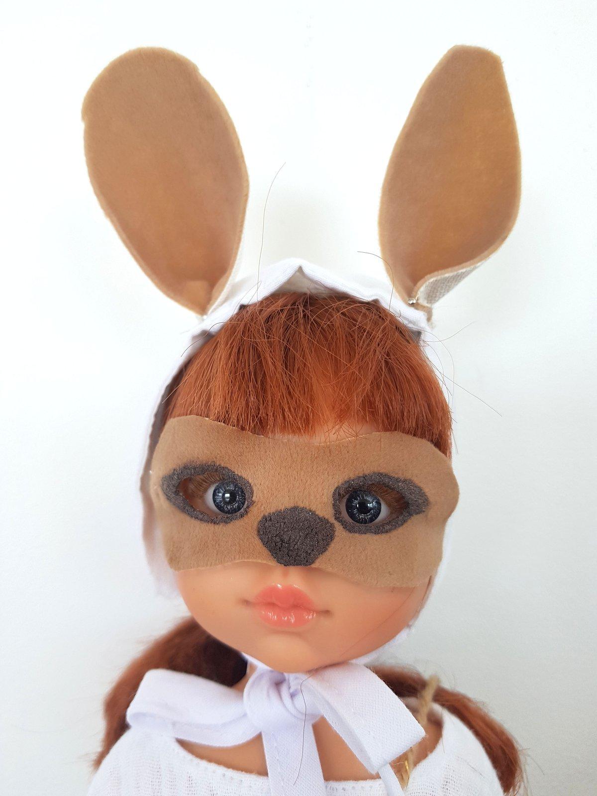 Image of MASQUE de poupée - COLLECTION Lapin de Pâques-édition limitée