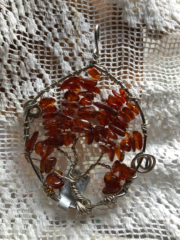 Image of Amber Tree of Life Pendant