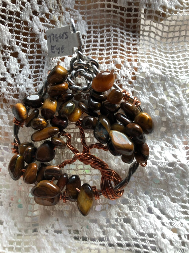 Image of Tigers Eye Tree of Life pendant