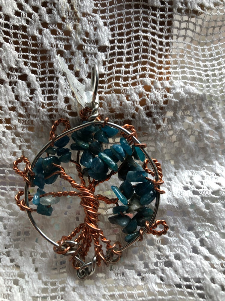 Image of Kyanite Tree of Life Pendant