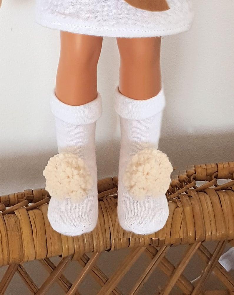Image of CHAUSSETTES pour poupée -COLLECTION Lapin de Pâques - édition limitée