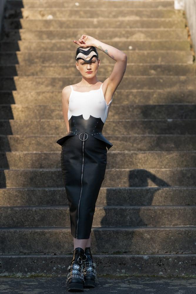Image of Zip-Up Skirt
