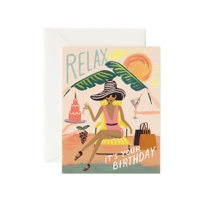 Image of CARTE DOUBLE HAPPY BIRTHDAY GIRLS (TROIS MODÈLES), RIFLE PAPER CO.